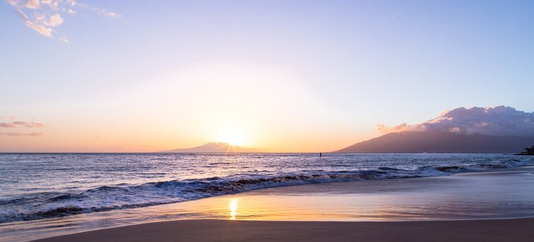 Sea, Ocean, Blue, Water, Nature, Wave, Sunrise, Beach