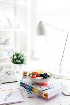 Fruits, Food, Dessert, Sweets, Book, Notebook, Pen