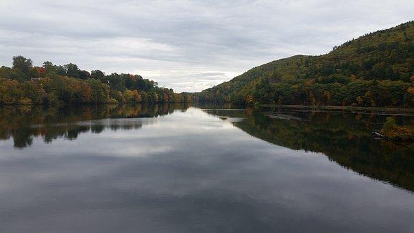 Brattleboro, Vermont, Water, Nature, River, Autumn