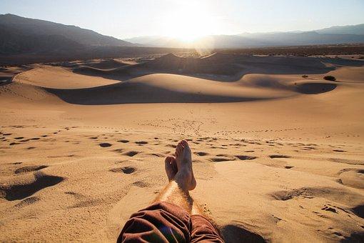 Chill, Relax, People, Man, Sunset, Dessert, Sun