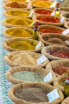 Spices, Curry, Market Stall, Colorful, Paprika, Market
