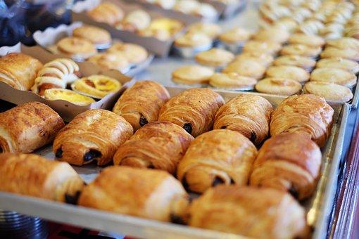 Bread, Display, Food, Bakeshop, Fillings, Sweets