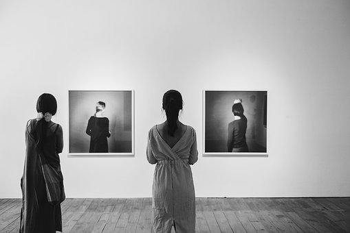 People, Woman, Girl, Female, Back, Black And White