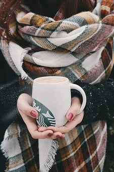 Starbucks, Coffee, Hot, Hands, Red, Manicure, Cold
