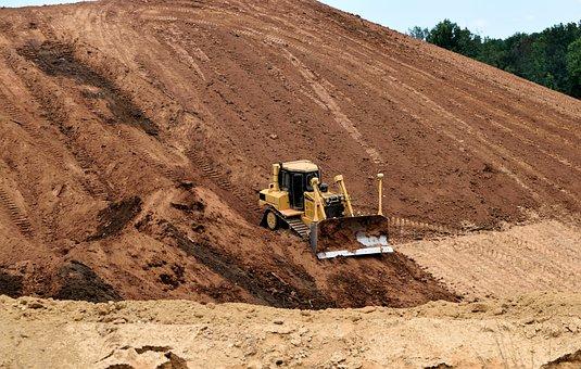 Bulldozer, Heavy Equipment, Construction Site, Industry