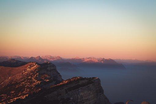 Rock, Hill, Ridge, Peak, Mountain, Landscape, Sunset