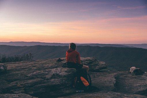 People, Man, Male, Guy, Travel, Alone, Ridge, Mountain