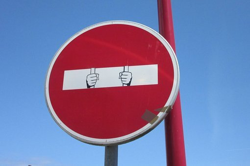 Panel, Humor, No Entry, Prison, Prisoner, Road Sign