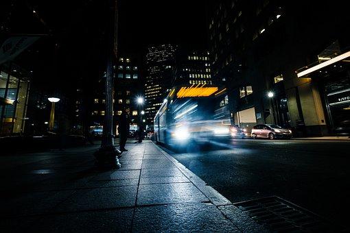 Long Exposure, Bus, Transportation, Photography, Dark
