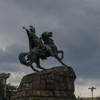 Monument, Horse, Khmelnitsky, Rider, Mace, Bogdan