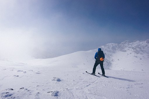 Snow, Winter, Mountain, Highland, Blue, Sky, Cloud