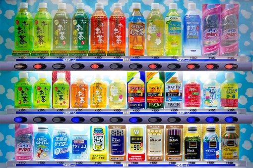 Soda, Vending Machine, Japan, Vending, Drink, Bottle