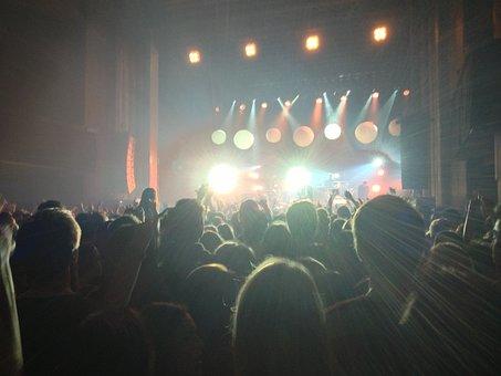 People, Crowd, Stage, Spotlight, Concert, Stadium