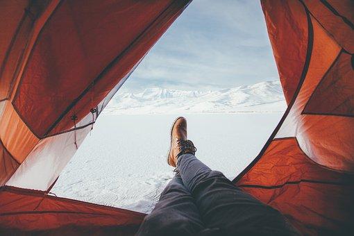 Leather, Shoe, Footwear, Leg, Travel, Tent, Snow
