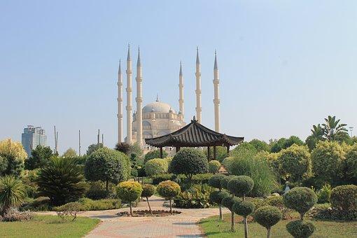 Adana, Sabanci, Mosque, Central, Park, Turkey
