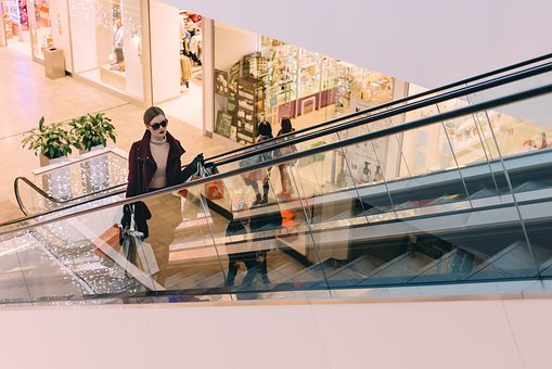 People, Woman, Girl, Female, Shopping, Mall, Bags
