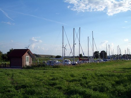 North Sea, Port, Fishing Boats, Ship, Water, Blue