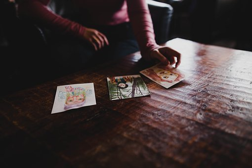 Drawing, Art, Paper, Hand, Wooden, Table, Desk, Artwork