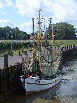 North Sea, Dangast, Fishing Vessel
