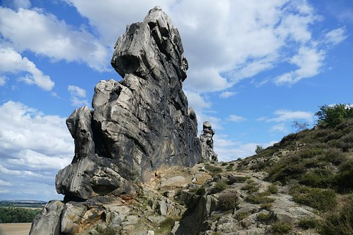 Rock, Cliff, Devil's Wall, Landscape, Idyllic, Romantic