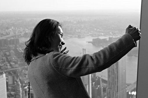 Selfie, Photography, People, Woman, Monochrome