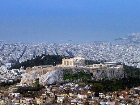 Acropolis, Athens, Greece, Panorama, City, Sightseeing