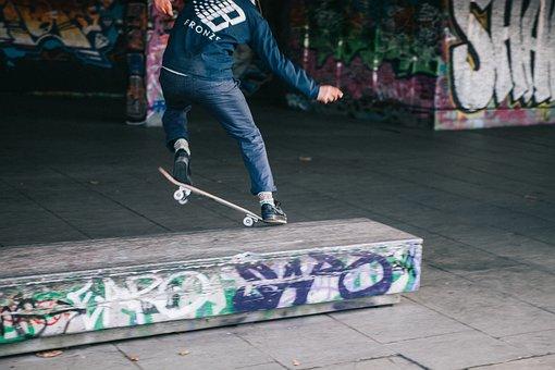 People, Man, Skate, Skateboard, Sport, Shoes, Ramp