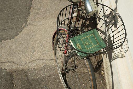 Road, Wall, Bike, Bicycle, Basket, Wheel, Book, Travel