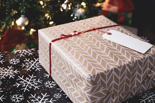 Christmas, Gift, Wrap, Tag, Ribbon, Holiday