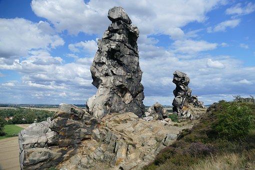 Sandstone Rocks, Viewpoint, View, Devil's Wall, Rock