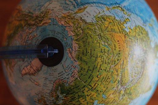 Globe, Global, Map, Round, Sphere, Colorful, Blur