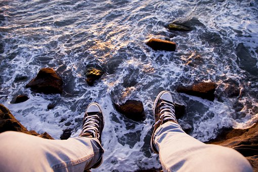 Sea, Ocean, Water, Waves, Nature, Coast, Rock, Ridge