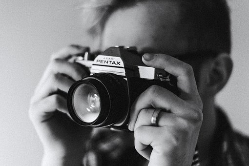 Camera, Photography, Lens, Pentax, Black And White