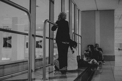 People, Men, Women, Sitting, Rest, Waiting, Inside
