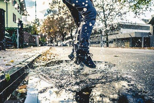 Water, Street, Road, Tree, Outdoor, Play, Shoe, Jeans