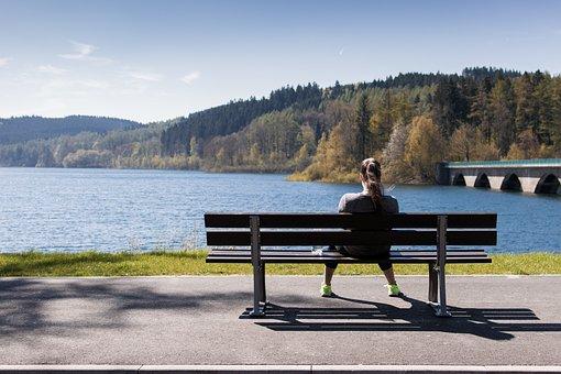 Sea, Ocean, Water, Wave, Nature, People, Sitting, Alone