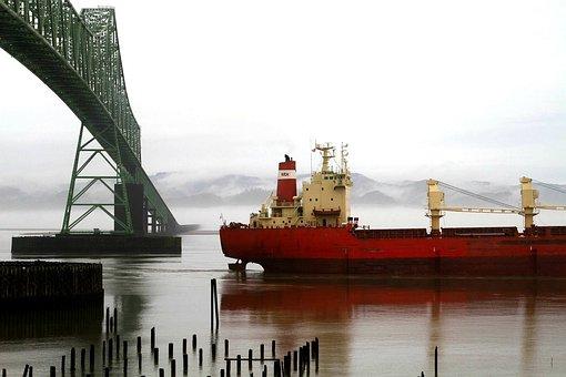 Ship, Bridge, Structure, Infrastructure, Architecture