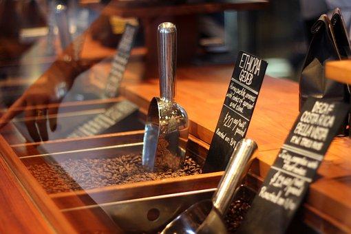 Steel, Scoop, Wooden, Rack, Seeds, Coffee, Beans, Price