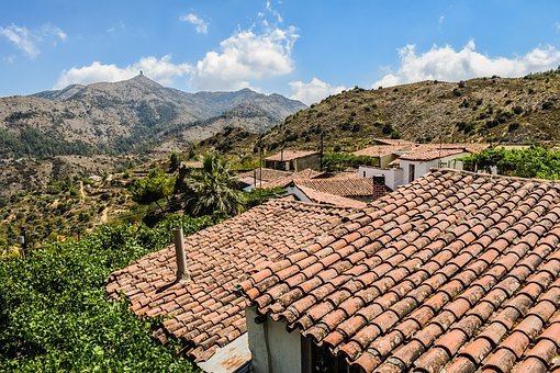 Cyprus, Lazanias, Village, Roofs, Architecture