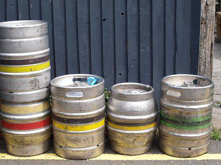 Beer, Barrels, Containers, Pub