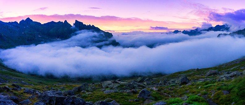 Green, Grass, Rock, Summit, Peak, Ridge, Blue, Sky