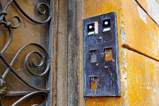 Door, House, Wall, Input, Building, Wood, Old, Bell