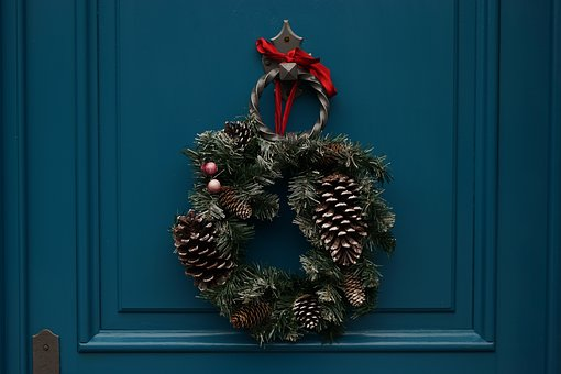 Pine, Cone, Wreath, Christmas, Decoration, Holiday