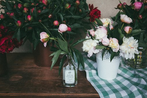 Wooden, Table, Green, Leaf, Flowers, Petal, Interior