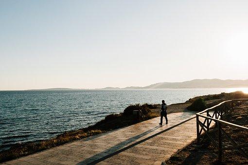 Sea, Ocean, Water, Wave, Nature, Coast, Path, Road