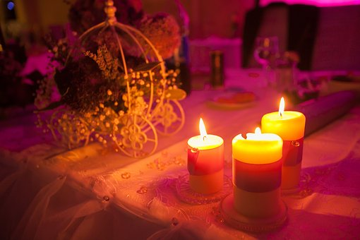 Table, Setup, Cloth, Flower, Candle, Light, Dinner