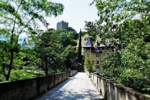 Bridge, Meran, Summer, Park, Sissi, Hike, Italy