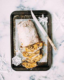 Raisin, Bread, Knife, Pan, Powder, Sugar, Food, Sweets