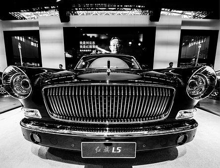 Black And White, Glossy, Car, Vehicle, Automotive