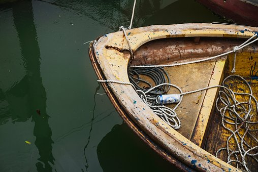 Dirty, Water, Reflection, Boat, Rope, Beverage, Drink